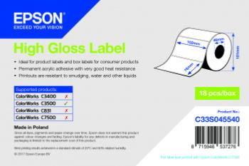 Etiquettes EPSON 102x76mm HIGH GLOSS